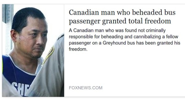 Canadian man who beheaded bus passanger